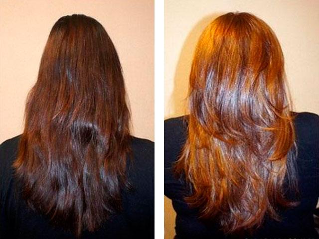 Окрасить волосы корицей