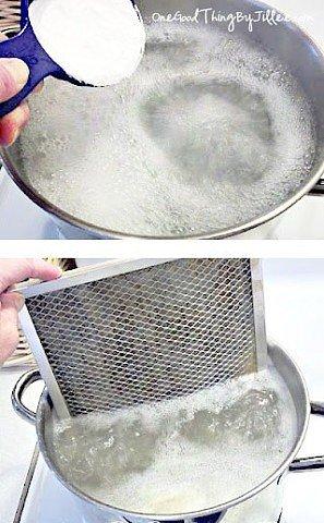 как удалить жир с вытяжки на кухне