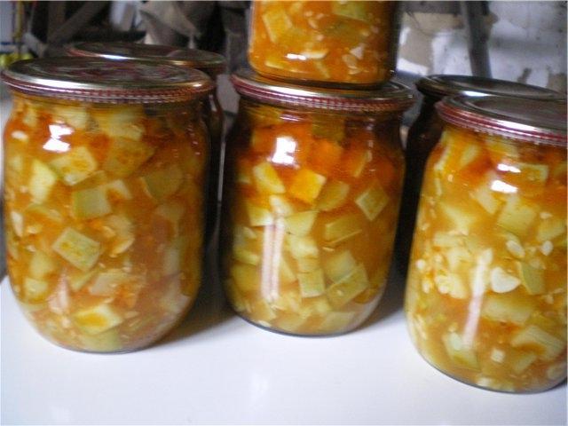 Кабачки на зиму рецепты с фото с чесноком