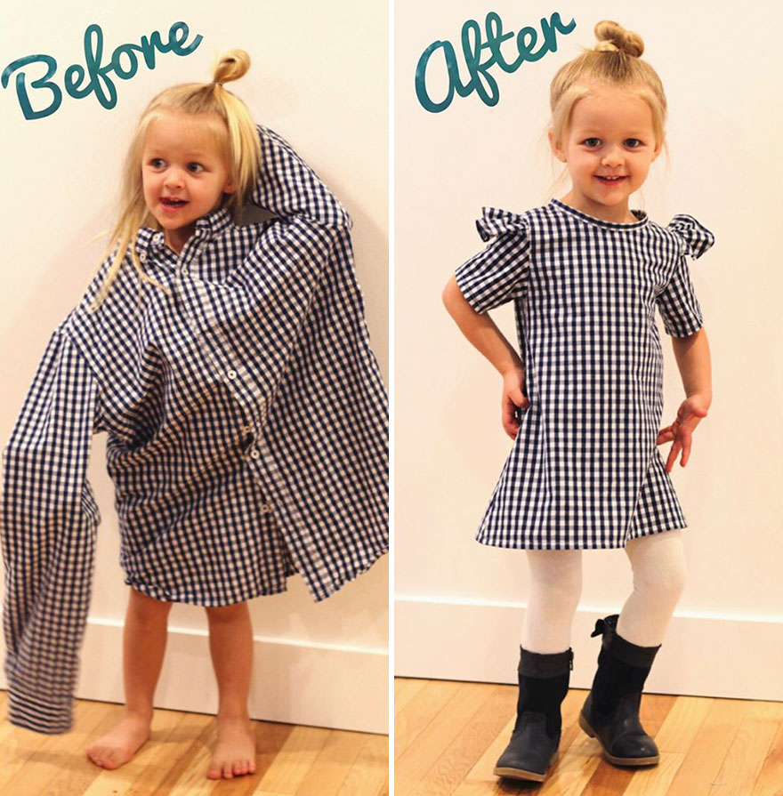 Что сшить из старого платья ребенку
